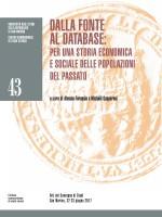 Dalla fonte al database: per una storia economica e sociale delle popolazioni del passato